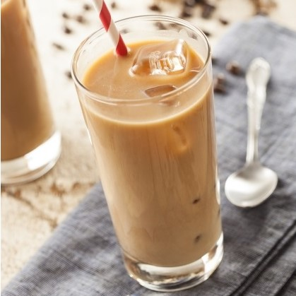 Iced cinnamon egg nog latte