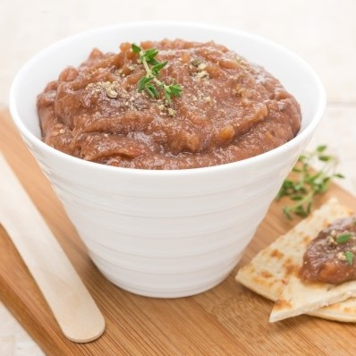 Baba gannouj (tangy eggplant dip)