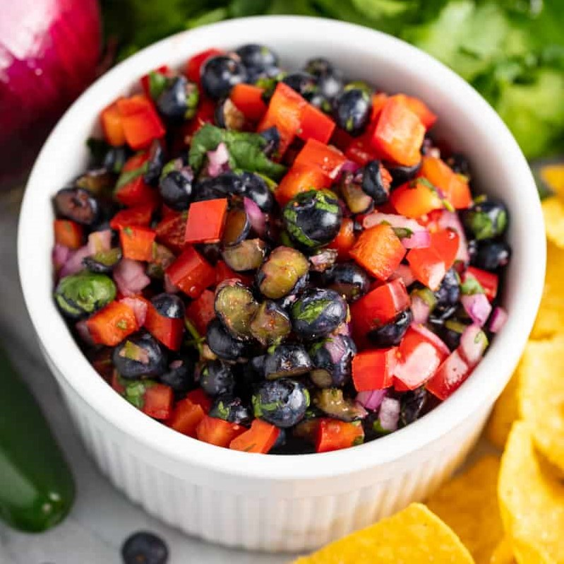 Blueberry Bell Pepper Salsa