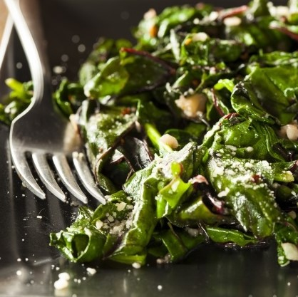 Wilted Greens With Garlic